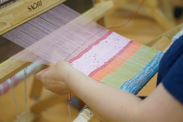 中央ろうきん助成制度 「さをり織りはじめます」